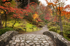 Japan Water Garden Pagoda. Royalty Free Stock Photos