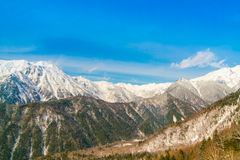 Japan Winter mountain with snow covered. Royalty Free Stock Photography