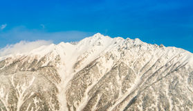 Japan Winter mountain with snow covered. Royalty Free Stock Image