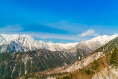 Japan Winter mountain with snow covered. Royalty Free Stock Photos