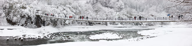 Japan at winter Royalty Free Stock Image
