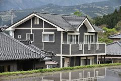 Japan-Wohnarchitektur Lizenzfreie Stockfotos