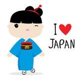 Japan Women National Dress Cartoon Vector Royalty Free Stock Photos