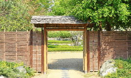Japan wood gate Stock Image