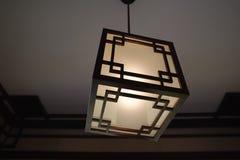 Japan wooden lantern Royalty Free Stock Image