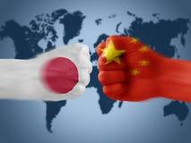 Japan x china Stock Photo