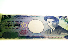 Japan YEN Banknotes tryckmaterial Fotografering för Bildbyråer