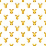 Japan yen currency symbol pattern, cartoon style. Japan yen sign pattern. Cartoon illustration of yen currency symbol vector pattern for web Stock Photos