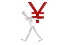 Japan yen currency white man Royalty Free Stock Image