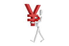 Japan yen currency white man Royalty Free Stock Photos