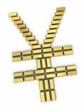 Japan Yen sign gold bars Stock Image