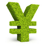 Japan yen sign leaf formation Stock Photo