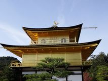 Japan zen golden temple. Place in front lake and garden royalty free stock image
