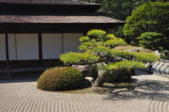 Japan zen temple garden Stock Photo
