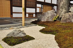 Japan zen temple rock garden Stock Photos