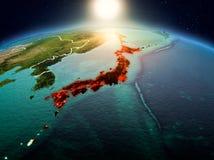 Japan in zonsopgang van baan Stock Foto's