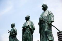 Japanaese statyer av ledare av bakumatsuperioden Royaltyfria Bilder