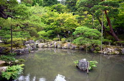 Japanease garden of Silver temple. Royalty Free Stock Photo
