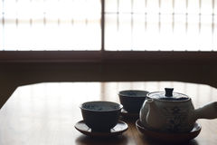 Japanease Tea set Stock Photo