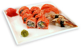 Japaneese cuisine meal sushi. Traditional japaneese cuisine meal sushi Stock Photos
