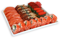 Japaneese cuisine meal sushi. Traditional japaneese cuisine meal sushi Royalty Free Stock Photos