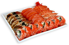 Japaneese cuisine meal sushi. Traditional japaneese cuisine meal sushi Stock Photo