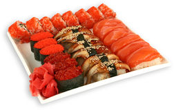 Japaneese cuisine meal sushi. Traditional japaneese cuisine meal sushi Stock Image