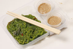 Japaneese kaiso salad with peanut sause Royalty Free Stock Photography