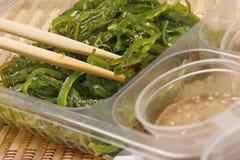Japanese kaiso salad with peanut sause Stock Photos