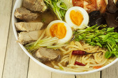 Japaneese noodle soup Royalty Free Stock Photography