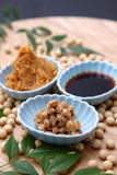 Japaneese traditional soybean processed foods Stock Photos