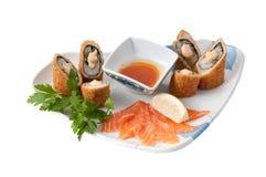 japaneeze karmowy talerz Zdjęcie Stock