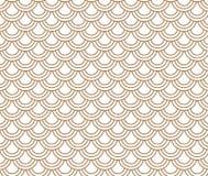 Japaner bewegen braunen und weißen Hintergrund des Kreismusters wellenartig Stockfotos
