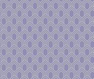 Japaner bewegen purpurroten und grauen Hintergrund des Hexagonmusters wellenartig Stockfotografie