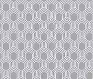 Japaner bewegen sechseckigen grauen und weißen Hintergrund des Musters wellenartig Stockbild
