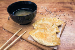 Japaner Gyoza-Mehlklöße Stockfoto