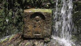 Japaner Jizou-Statuen stock footage