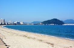 Japaner-Oktober-Strand/Strand Fukuok Ikinomathubara Lizenzfreie Stockfotos