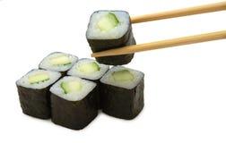Japaner rollen mit Avocado Lizenzfreie Stockfotos