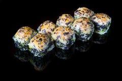 Japaner rollt mit Kaviar Lizenzfreies Stockfoto