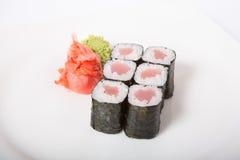 Japaner rollt mit Thunfisch Lizenzfreie Stockfotos