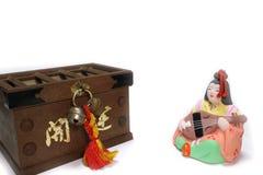 Japaner Saraswati und Offertoriumkasten im weißen #2 Lizenzfreie Stockbilder