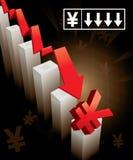 Japaner Yen Currency Crash Lizenzfreies Stockfoto