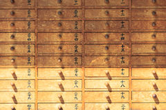 Japanes wooden cabinet in Asakusa temple, Japan Royalty Free Stock Photography