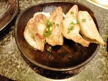 Japanese fried dumplings or Gyoza or pot sticker stock photos
