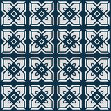 Japanese abstract square flower pattern. On blue background vector illustration