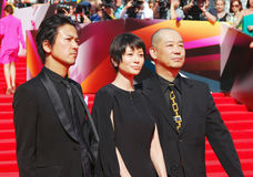 Japanese actors at Moscow Film Festival Royalty Free Stock Photography