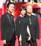 Japanese actors at Moscow Film Festival Royalty Free Stock Images