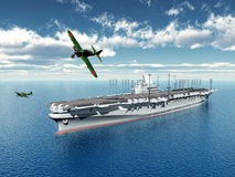 Japanese Aircraft Carrier Royalty Free Stock Images