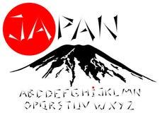 Japanese alphabet Stock Photography